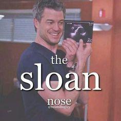 Grey's Anatomy- the Sloan nose! Greys Anatomy Funny, Grays Anatomy Tv, Grey Anatomy Quotes, Eric Dane, Grey Quotes, Tv Quotes, Lexie Grey, Patrick Dempsey, Ellen Pompeo