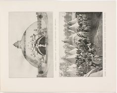"""Souvenir book of the Louisiana Purchase Exposition - Page [33]: Roltair's """"Creation"""", an illusion confusing and amusing ; Scene in Wild West, Indian congress and rough riders of the world [photographic illustrations]"""