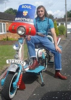 Northern Soul fellow.  A most unlikely looking soul brother, good on you though