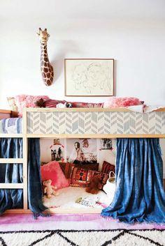Kura lit, Ikea, Set d'autocollant géométrique Herringbone, PACK de 5, formes, réutilisable, Decor meubles, Repositionable, enfants #17K