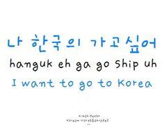 pretty simple! Hnaguk-KOREA ship-uh-WANT i always love the korean word-DeHAMINGO