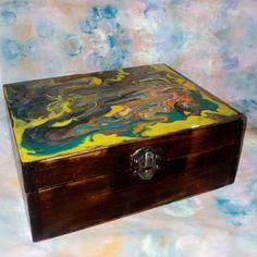 KADORIS.RO: DEEP FOREST - Casetă pictată (UNICAT, lemn natur)