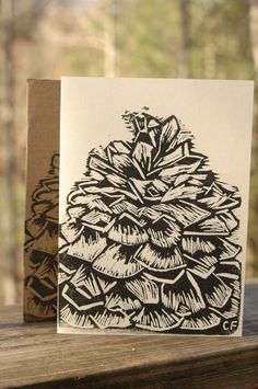 Pine Cone Holiday Card