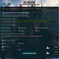 10 Best [ 2019 ] Raid Shadow Legends Hack Gems   RAID HACK images