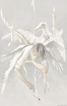 顰蹙の黒、神聖の白、燃えて還ればすべて灰