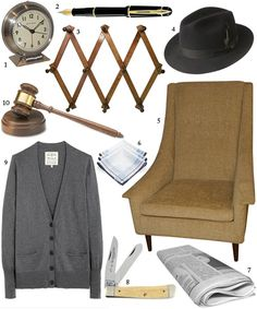 To Kill a Mockingbird, part II. I want the pegboard, cardigan and chair