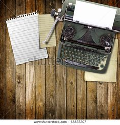 typewriter font with wooden background - Google Search