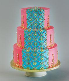 Indian sari-inspired cake