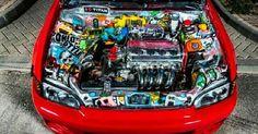 Jdm That bay! Slammed Cars, Jdm Cars, Honda Vtec, Honda Civic, Supercars, Civic Eg, Honda Cars, Import Cars, Japanese Cars