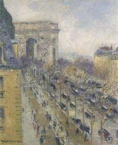 The Arc de Triomphe - Friedland Avenue  Gustave Loiseau - Date unknown