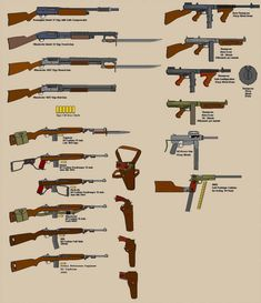 Carbines Shotguns Subs by BigChiefCrazyTalk on DeviantArt