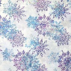 SOLD OUT  Snowflakes: Aurora Batik By-The-Yard; Cotton fabric by Hoffman California at TCSFabrics on #Etsy #Fabric #Batik #Holiday #Winter #Snowflake #HoffmanCalifornia #L2661-532 #Décor #Sewing #Quilting #Craft #Apparel #DIY