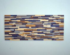 wood art RISING SUN REDUX 36x12 wood wall art by StainsAndGrains