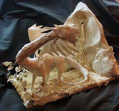 Rose the Dragon Book Sculpture by wetcanvas.deviantart.com on @deviantART
