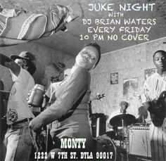 DJ Brian Waters and special guests go ham on the decks tonight here for Juke Night! It's a dance party! At 10, no cover! #DTLA #FridayNight