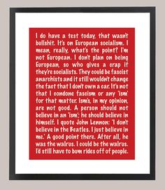 Ferris Bueller's Day Off Quote 11 x 14 Inspiration Print