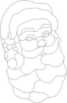 415 best holiday christmas stained glass images on pinterest jolly old saint nick by linda garman stained glass projectsstained glass patternschristmas appliquestained glass christmasapplique maxwellsz