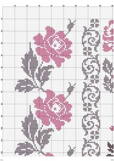 This Pin was discovered by Δαφ Cross Stitch Rose, Beaded Cross Stitch, Cross Stitch Borders, Crochet Cross, Modern Cross Stitch, Cross Stitch Flowers, Cross Stitch Designs, Cross Stitching, Cross Stitch Embroidery
