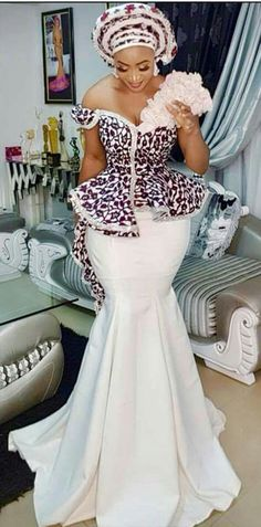 african fashion that looks amazing ! African Lace Dresses, African Wedding Dress, Latest African Fashion Dresses, African Print Fashion, Africa Fashion, Women's Fashion, Hijab Fashion, African Attire, African Wear