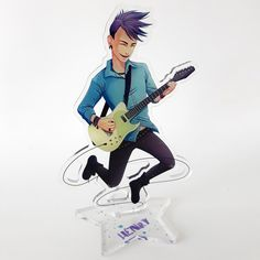 Acrylic Standee of Henry. Comes flat in 2 parts with two-sided core print, base 1 sided. Anna Blue, Emo Love, Laser Cut Acrylic, Anime, Cartoon Movies, Anime Music, Animation, Anime Shows