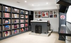 Music/DJ Room - contemporary - media room - boston - LDa Architecture & Interiors