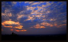 image taken at sunset from top of Golconda Fort !!