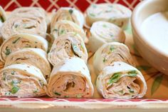 These roll-ups would be a good dish for game day or an appetizer for any party. Choose the level of spice in your wing sauce to adjust. No Cook Appetizers, Quick And Easy Appetizers, Finger Food Appetizers, Shower Appetizers, Finger Foods, Chicken Pinwheels, Amish Chicken, Usda Food, Roll Ups