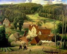 Haytime in the Cotswolds (approx 1939) by James Bateman