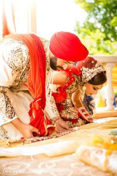Sikh wedding ceremony http://www.maharaniweddings.com/gallery/photo/63113