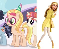 Honey lemon in MLP! If I remember correctly, Moon Dancer said she was a science teacher, too!