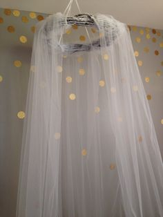love the gold dots on the wall... Handmade Beautiful Boho Cottage Wreath Bed Canopy by BabetteDesign