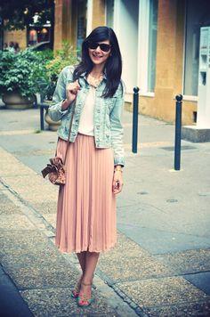 jupe - olivier clothing top et veste - zara