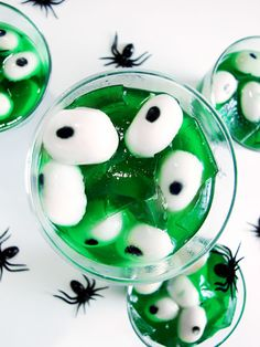 Use this recipe to make Creepy Peepers Halloween Jello.