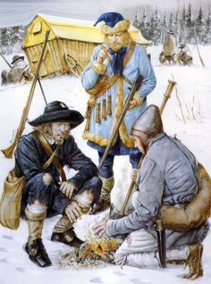 Swedish army in winter quarter, Thirty Years War