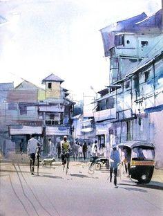 Milind Mulick Watercolour Paintings - 12