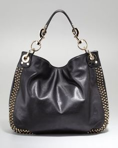 V1HDY Rebecca Minkoff Luscious Mini Studded Hobo Bag, Black