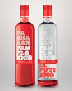 """Licores Baines reinvents the traditional world of its most famous liquor with Pacharán Pamplonica, a new drink targeting young people that provides a visual challenge on finishing the bottle: the special proposal appears on the inside of the rear label, ""El Puto Amo""."""
