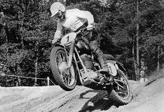 12: THE MOST IMPORTANT MOTOCROSS BIKES OF THE EARLY ERA - 1957 World Champion Bill Nilsson on his Husqvarna...
