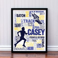 Do you have a runner in your life? If so, this would make a perfect addition to a room, team office, coach's gift, team gift or a gift for yourself! Makes a re