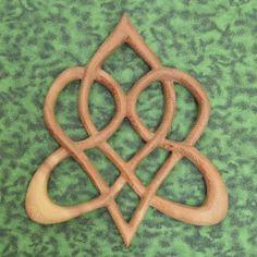 Celtic Heart-Knot of Everlasting Love-Heart Shaped Wood