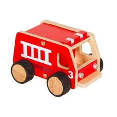 Guidecraft Plywood Fire Engine at Brookstone—Buy Now! Playroom Furniture, Kids Furniture, Toy Trucks, Fire Trucks, Toddler Toys, Kids Toys, Firefighter Family, Garbage Truck, Cute Toddlers