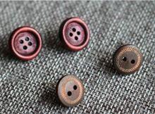 1 пара в 2-х стилях Дерево Кнопка серьги-стержни для женщин личности натурального дерева серьги Мода уха ювелирные изделия(China)