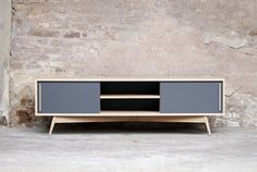 Lacquered mdf sideboard inmotion collection by mdf italia design neuland in - Meuble tv sur mesure belgique ...