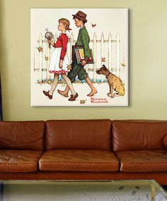 Look at this 'Young Love: Walking to School' Gallery-Wrapped Replica Canvas on #zulily today!