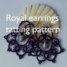PDF Royal earring tatting pattern by by littleblacklace on Etsy