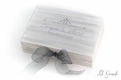 #Caja #arras #vintage con decoración en plata. Enrique y María. www.lolagranado.com