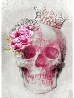 "Saatchi Art Artist Xrista Stavrou; Drawing, ""Skull Art"" #art"