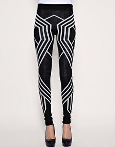 ASOS Monochrome knitted leggings. Have to have em