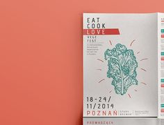 Unofficial project of the leaflet for Eat Cook Love Festival.