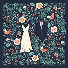 Beautiful print!   Pattern & Wedding invitation [Final version] by szende brassai, via Behance